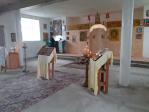В храме Рождества Христова села Ахлыстино Кушнаренковского района состоялась очередная служба