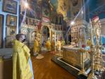 Преосвященнейший епископ Николай принял участие в Литургии, которую возглавил Глава Башкортостанской митрополии в кафедральном соборе Рождества Богородицы в Уфе