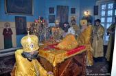 Архипастырское Богослужение в Богородице-Покровском храме села Семёно-Петровское