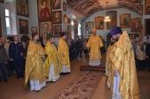 Епископ Николай совершил Божественую литургию в Свято-Тихоновском храме с. Ермолаево