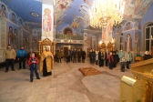 """Преосвященнейший епископ Николай совершил молебное пение перед отбытием делегации Салаватской епархии на молодёжный форум """"Нас выбрало время"""""""