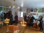 Преосвященнейший епископ Николай совершил вечерню с акафистом в Храме Архангела Михаила села Базлык